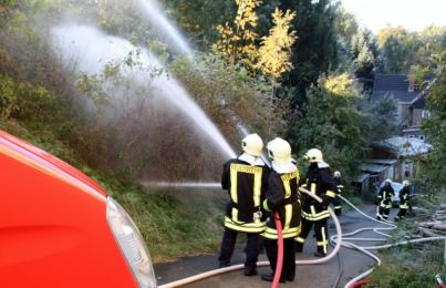 Einsatzuebung Hainewalde 17-10-2010 Bild 16