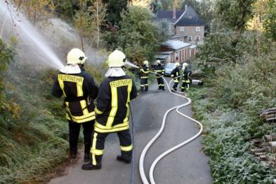 Einsatzuebung Hainewalde 17-10-2010 Bild 33